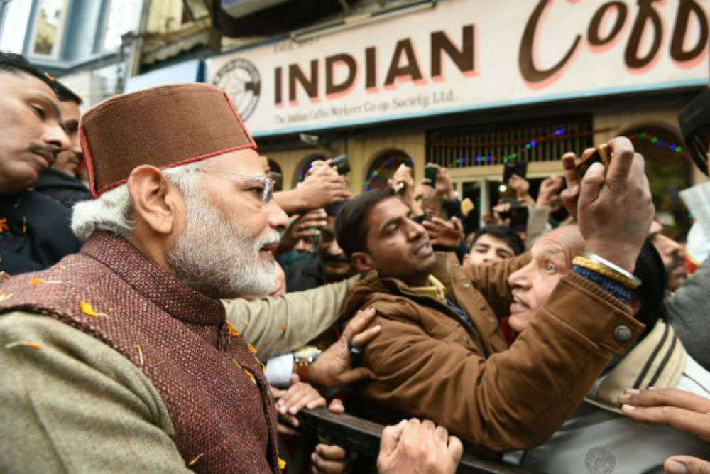 PM Modi visits Shimla, remembers his old days at the iconic Indian Coffee House
