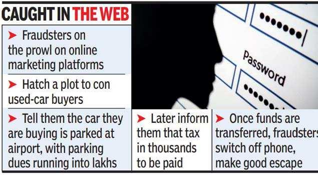 Conmen take online car buyers for a ride | Bengaluru News