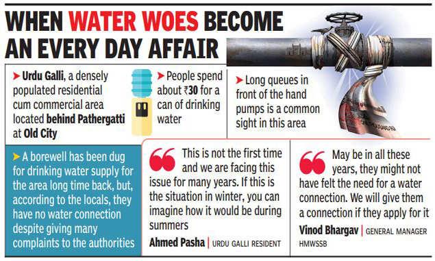urdu galli: Decades-old drinking water crisis haunts Urdu Galli