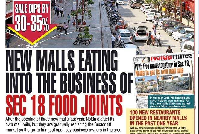 noida s sector 18 market association: Noida's Sector 18