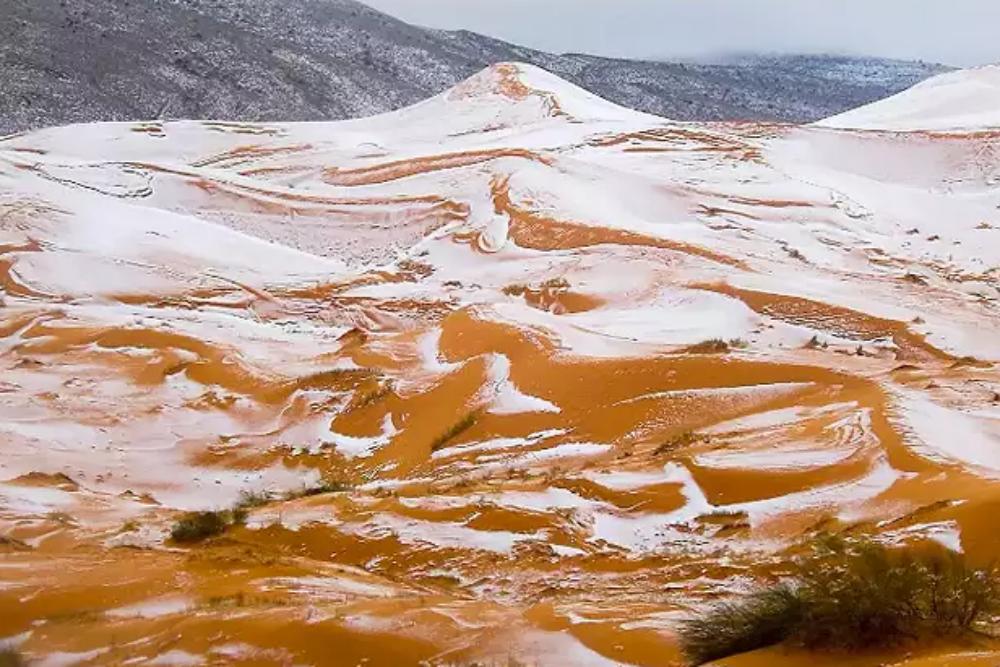 Snowfall in Sahara Desert, a rare thing that happened in 2018