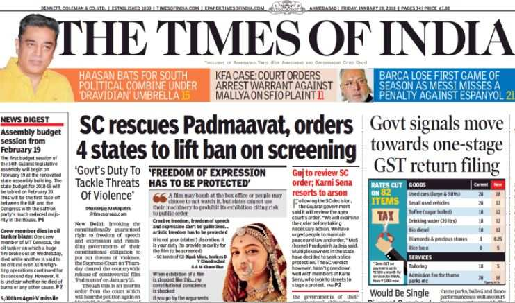 Much more Right from TOI