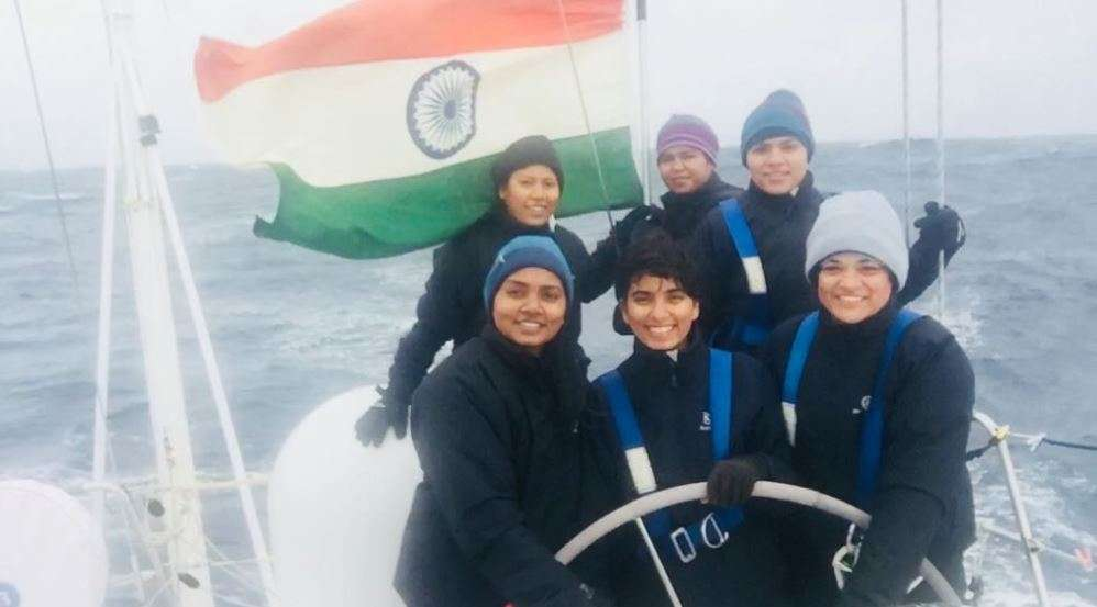 INSV Tarini crosses designated point, all-woman crew hoists tricolour