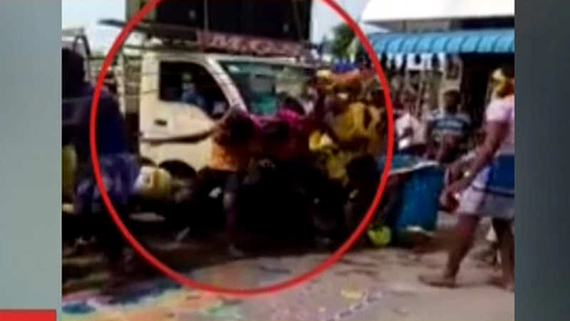 Horrific accident caught on camera: Speeding vehicle mows down people in  Salem