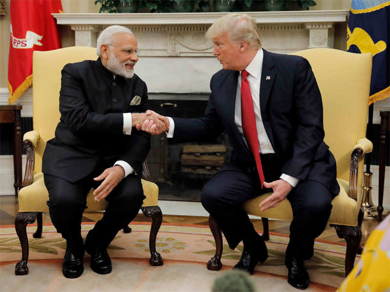 In first year, Trump firms up ties with India - Times of India