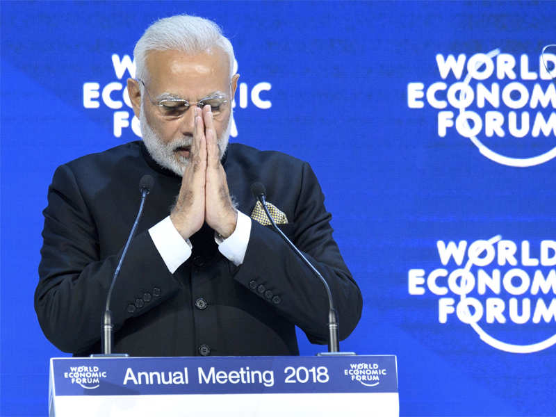 India is replacing red tape with red carpet: PM Modi tells CEOs at Davos - Times of India