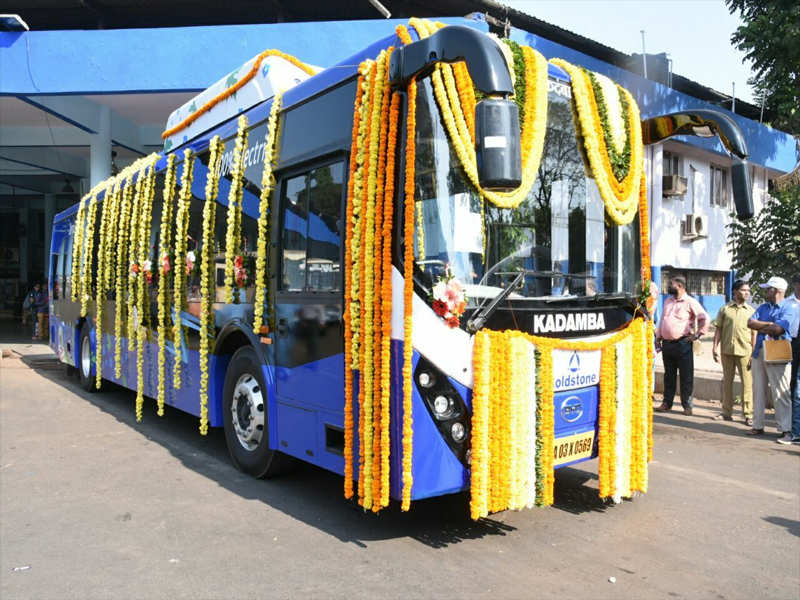 Image result for Green initiative: Goa's first electric bus hits the road