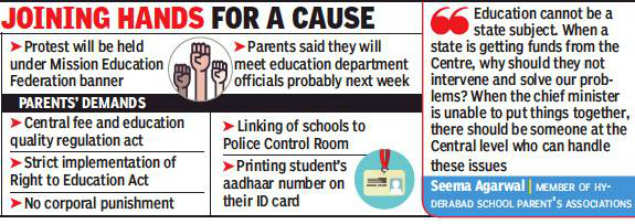 parents protest over fees: Parents to join nationwide