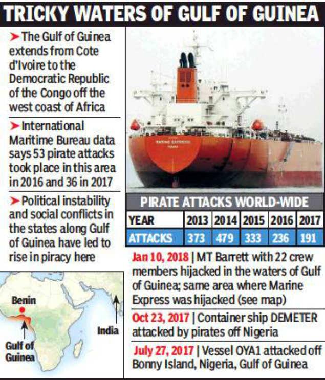 Panama-flag merchant ship: Hijacked oil tanker vessel with