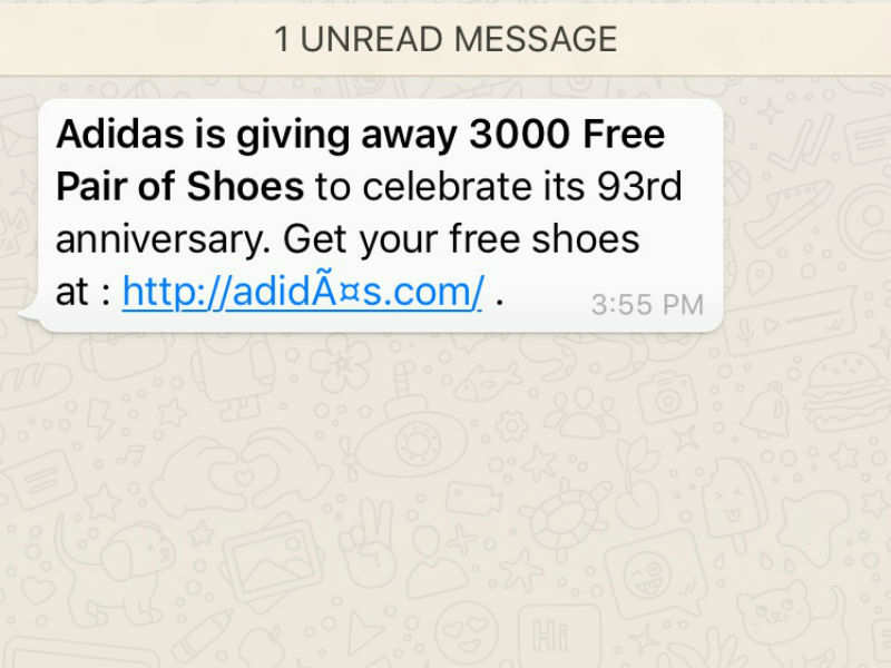 Adidas: 'Free Adidas shoes': Don't fall for it, it's a scam