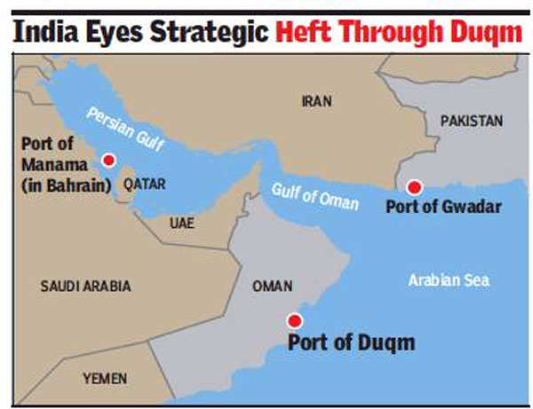 Oman Duqm port: Access to Omani port to help India check China at Gwadar |  India News - Times of India
