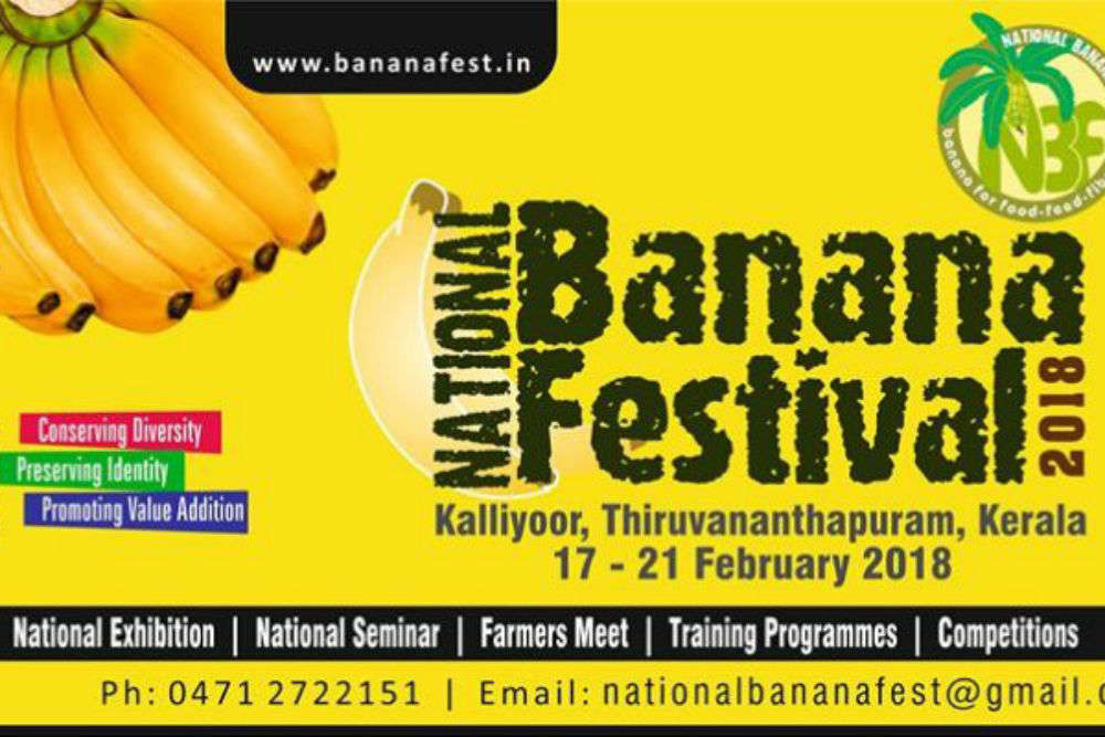National Banana Festival 2018 to be held in Kerala from 17 to 21 Feb