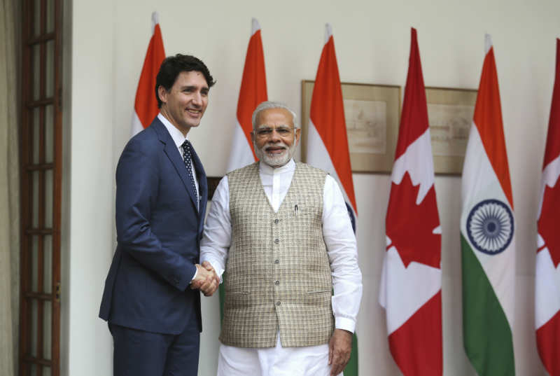 Modi in joint presser with Canadian PM Trudeau: Won't tolerate those who challenge our sovereignty - Times of India