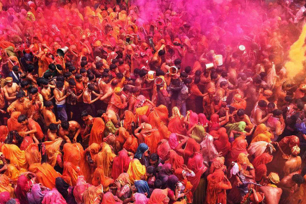Highlights from the Holi 'Rangotsav' festival celebrated in Mathura