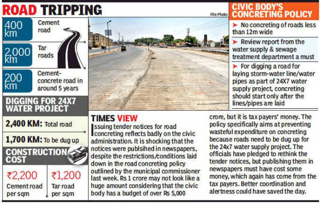 Pune Municipal Corporation: PMC issues concreting tender notices