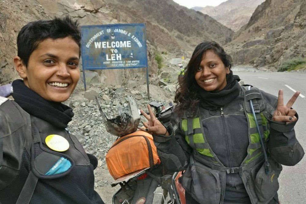 Kanyakumari to Leh on bike in just 129 hours, two women did the undoable