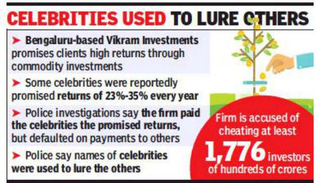 Bangalore fraud: Rahul Dravid, Saina Nehwal among celebs