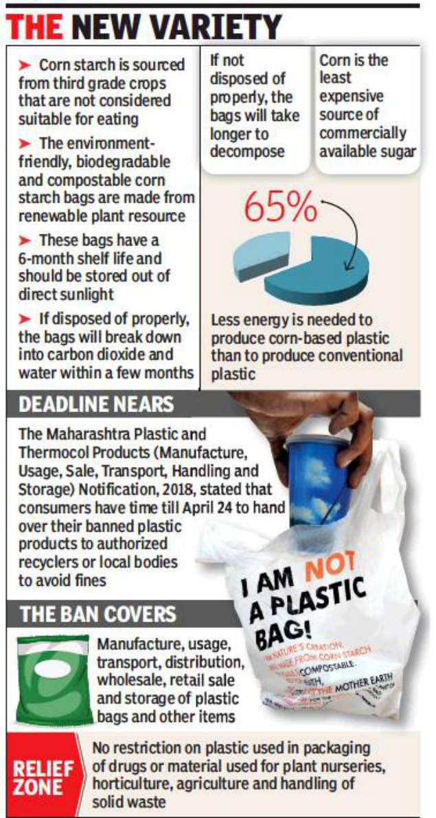 Corn starch bags, cutlery a hot pick for restaurants | Pune