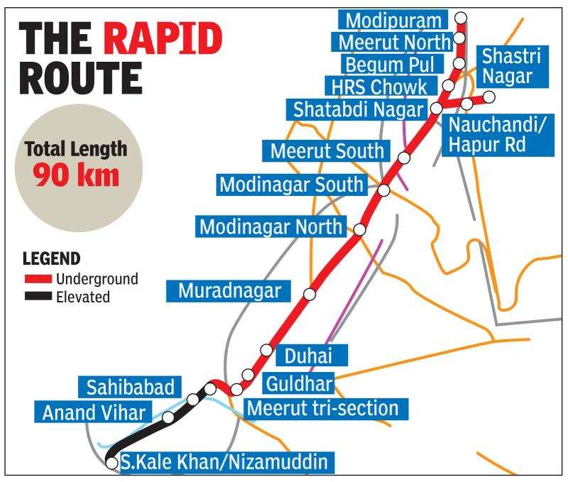Land cleared for Delhi-Meerut rapid rail link   Noida News - Times