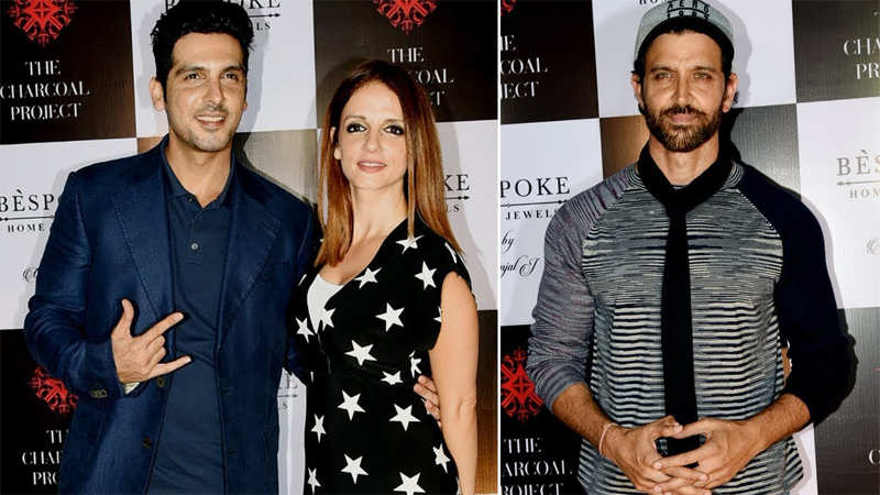 Hrithik Roshan joins Sussanne Khan and her family at an event