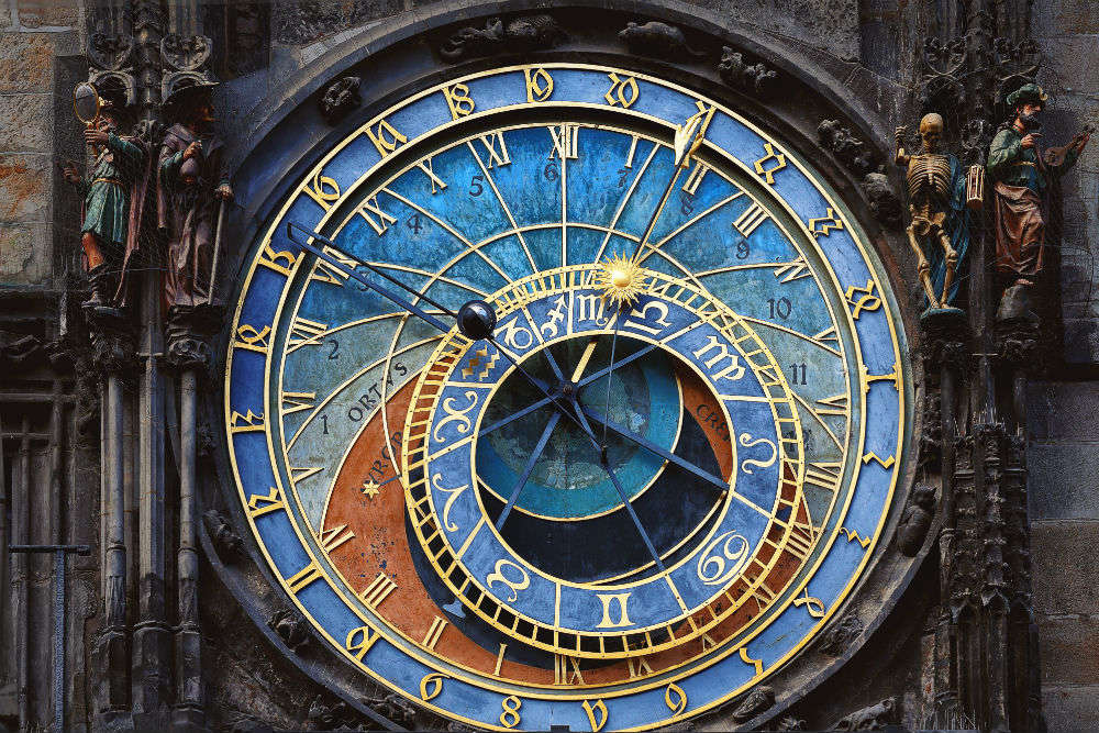 Dating back to the 15th century, this clock in Prague shows the state of universe in real time