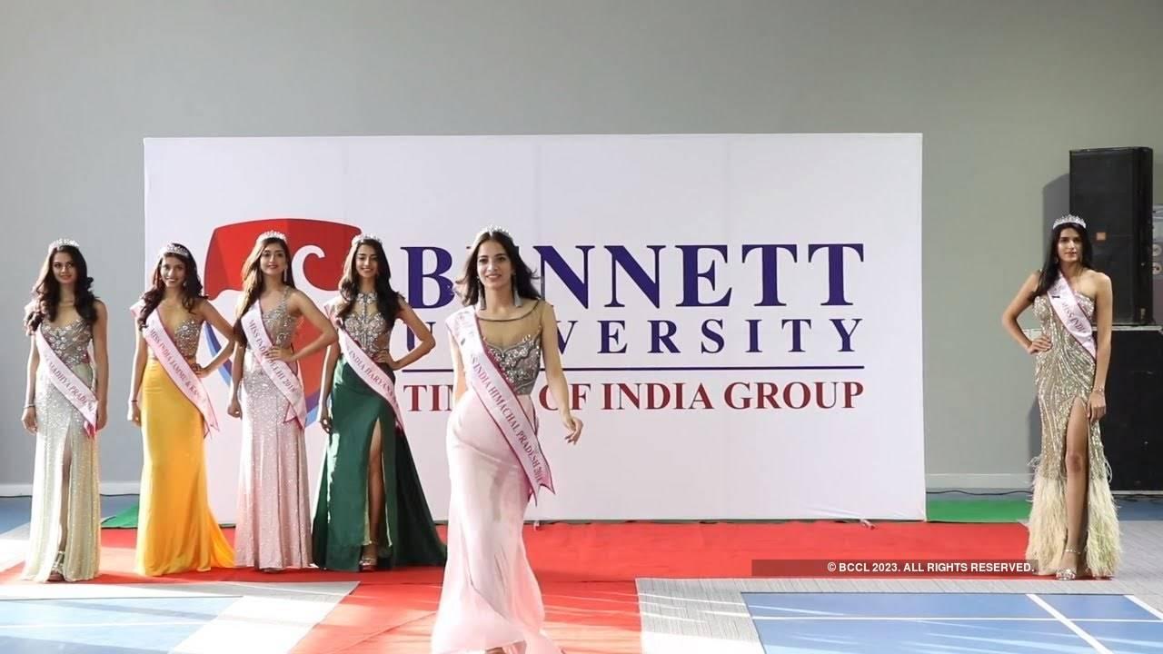 miss-india-north-winners-visit-bennett-university