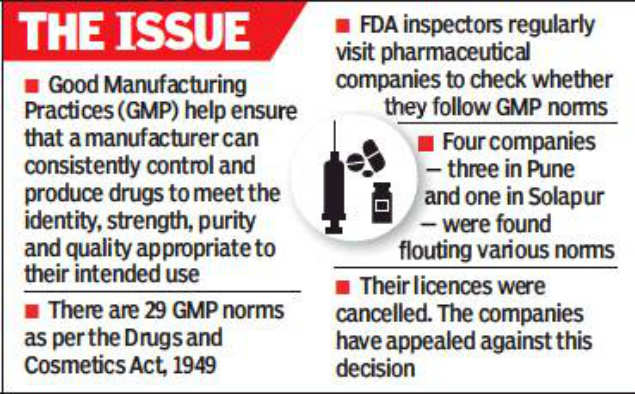 fda: FDA cancels licences of 4 pharma companies over
