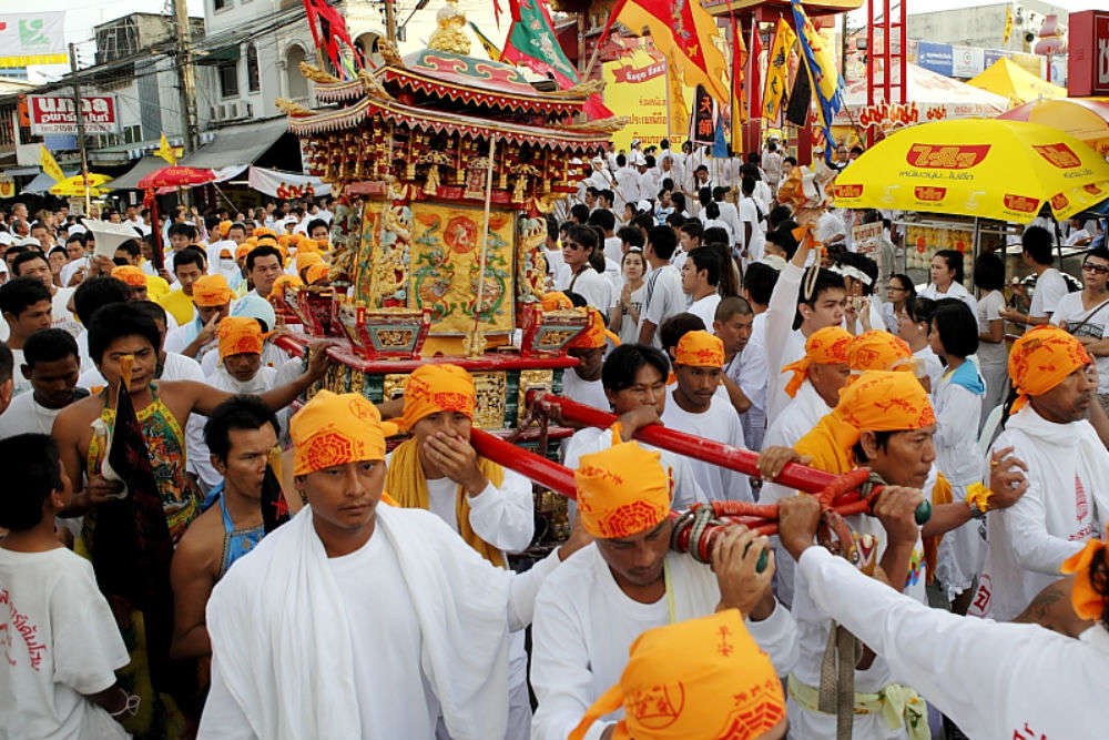 Visit Thai Vegetarian Festival to find vegan food, possessed humans and much more
