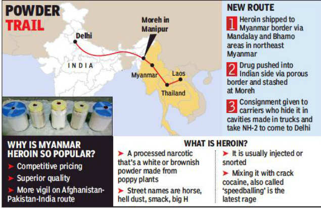 Rs 24 crore heroin haul leads cops to new drug route via