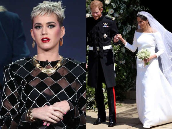 Katy Perry criticises Meghan Markle for her wedding gown - Times of India