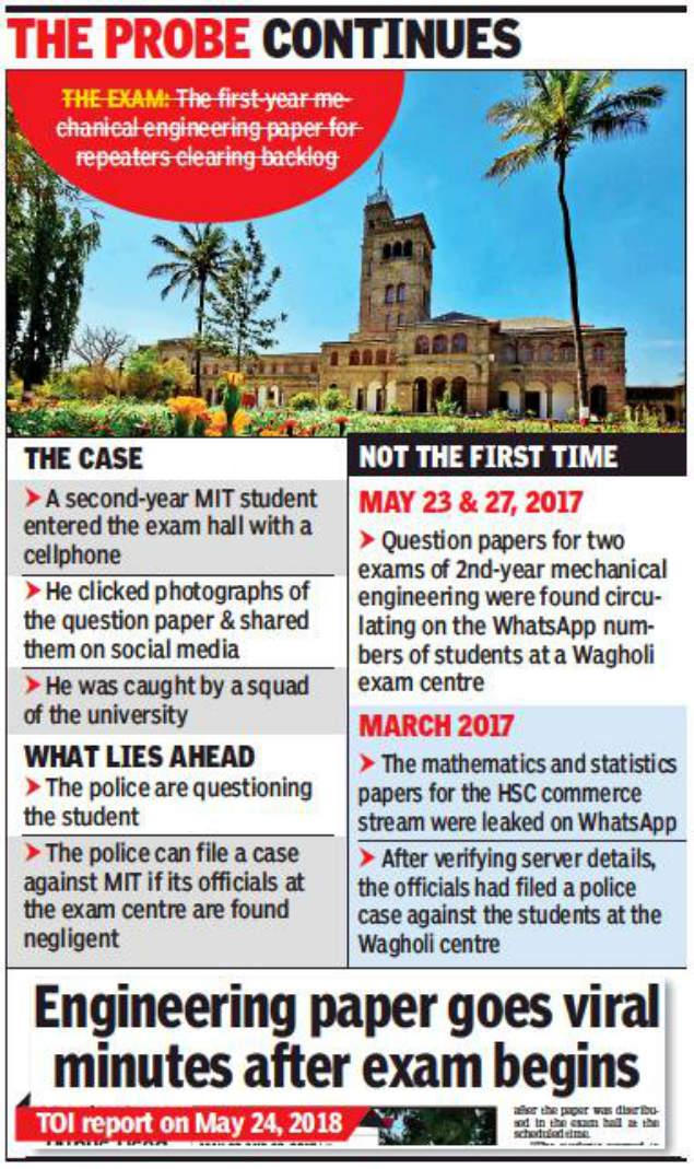 SPPU: Student held for leaking SPPU engineering paper | Pune News