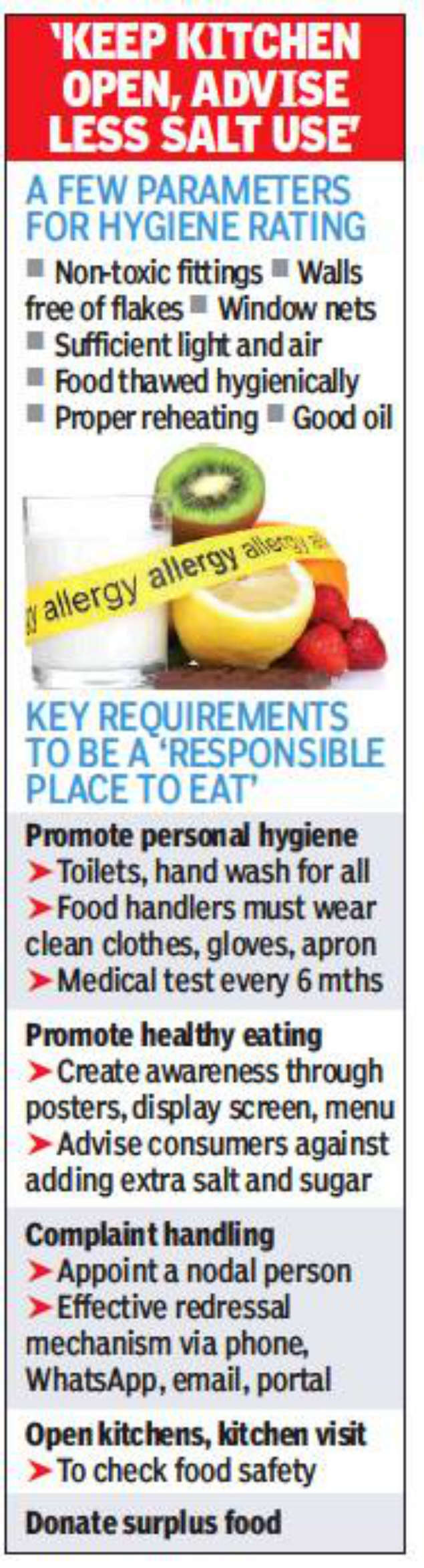 Mumbai: Soon, check an eatery's FDA rating before booking table