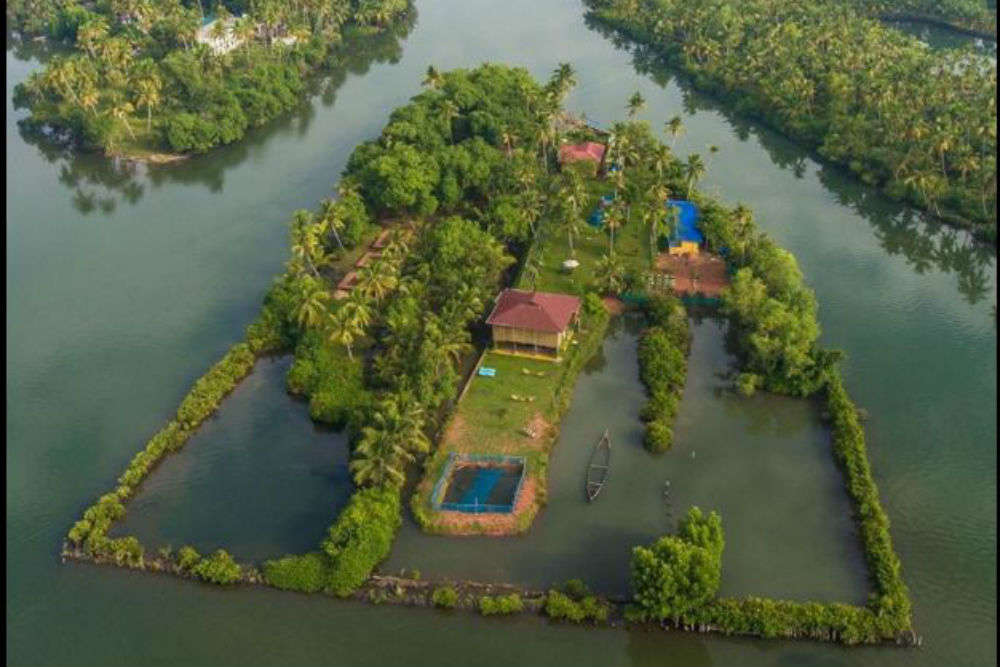 You can book an entire island in Kerala to spend a serene vacation