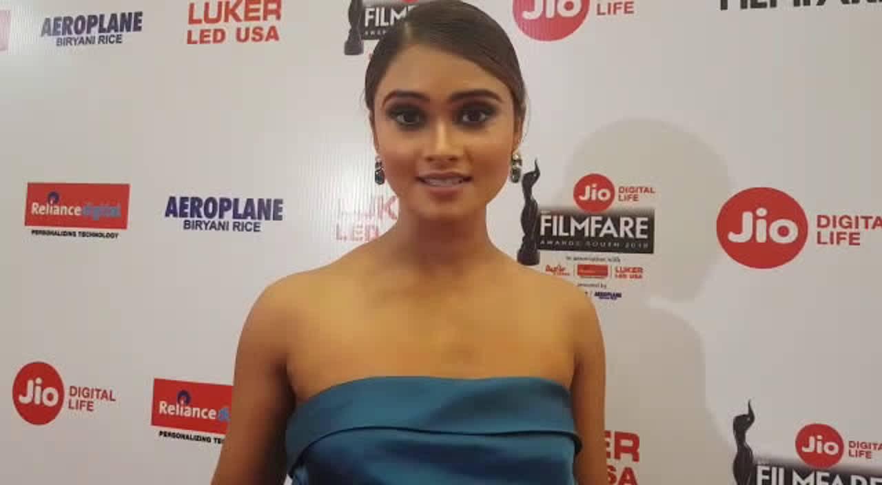 Shraddha Shashidhar at the 65th Jio Filmfare Awards (South) 2018