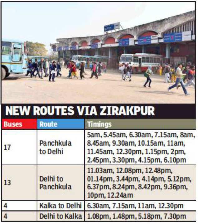 Now, board a bus to travel from Delhi to Panchkula, Kalka