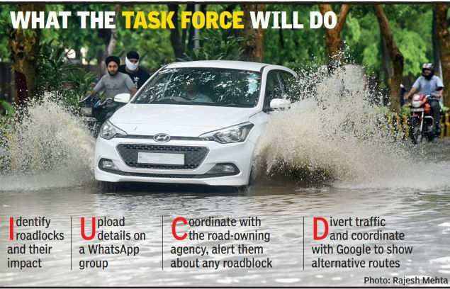Traffic police task force to prevent rain-related jams