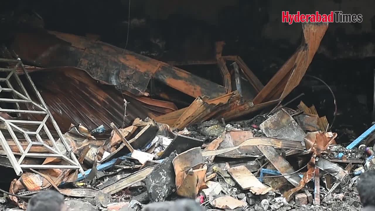 Fire accident in Krishna Nagar
