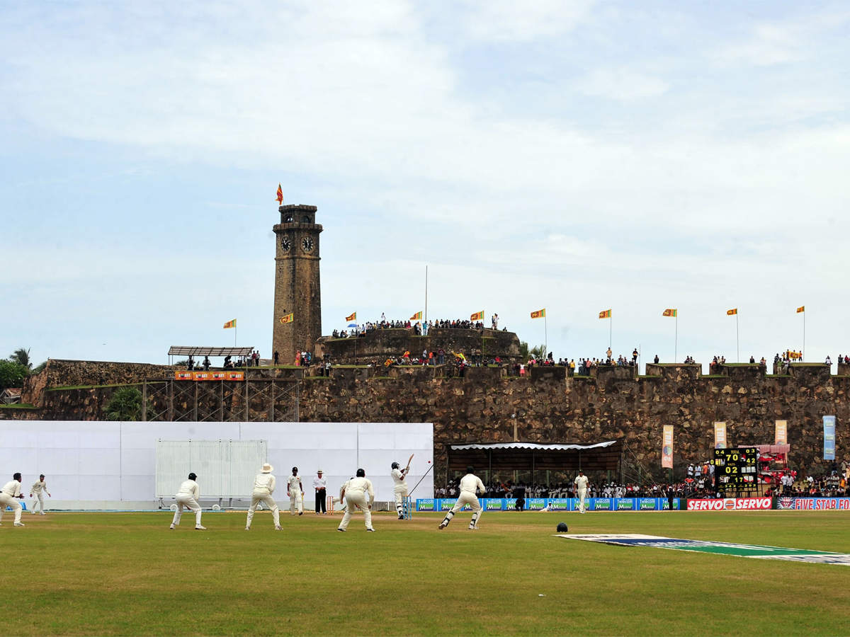 The Galle stadium in Sri Lanka is opposite the Dutch fort
