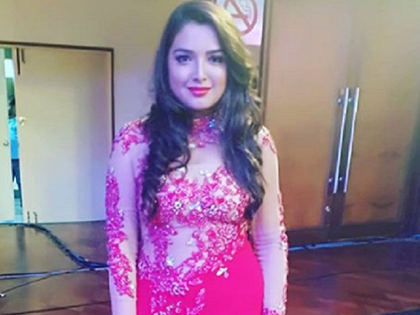 Bhojpuri actress Amrapali Dubey slays it in a red gown   Bhojpuri