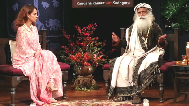 Kangana Ranaut in conversation with Sadhguru Jaggi Vasudev
