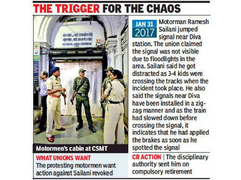 Motormen refuse overtime duty, cripple Central Railway