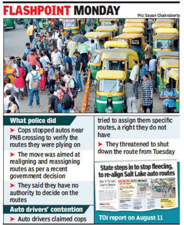 Strike cloud in Kolkata after move to rationalise auto route