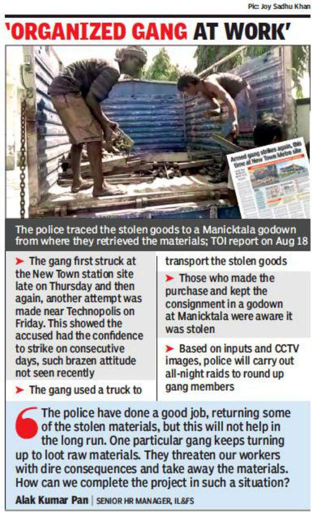 Fresh robbery bid at Metro site, 3 detained | Kolkata News