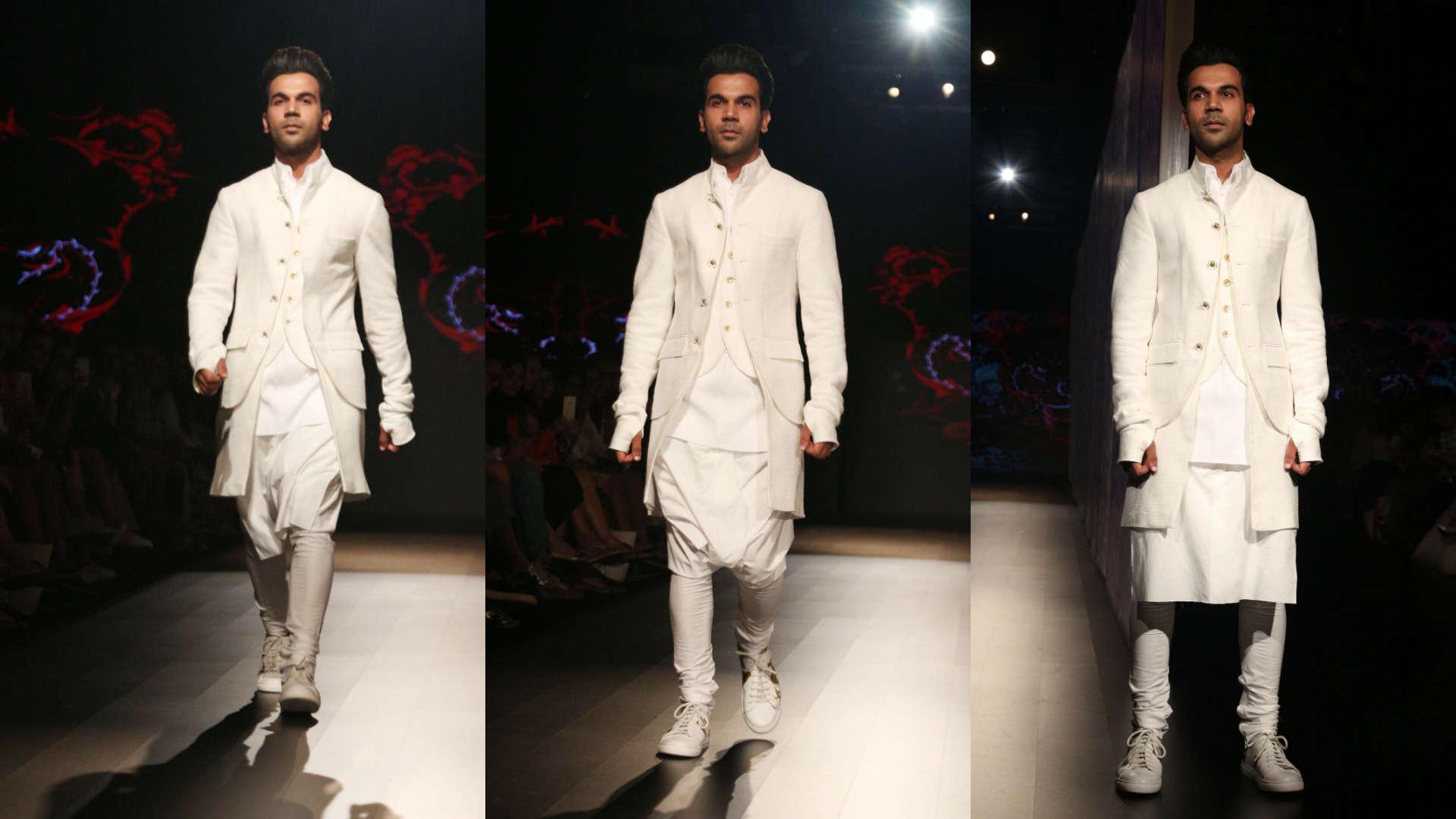 79a7f73571cb23 Lakme Fashion Week Day 2: Rajkummar Rao turns showstopper for Rajesh Pratap  Singh, Watch Videos Online | MissKyra Videos