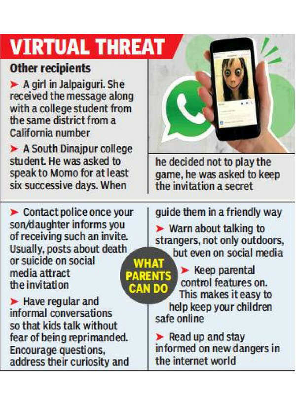 Kolkata techie receives Momo Challenge invite | Kolkata News