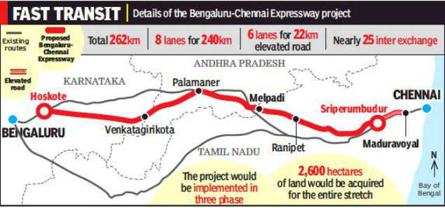 chennai to bangalore road map Notice Issued To Get Land Notice Issued To Get Land For Highway chennai to bangalore road map