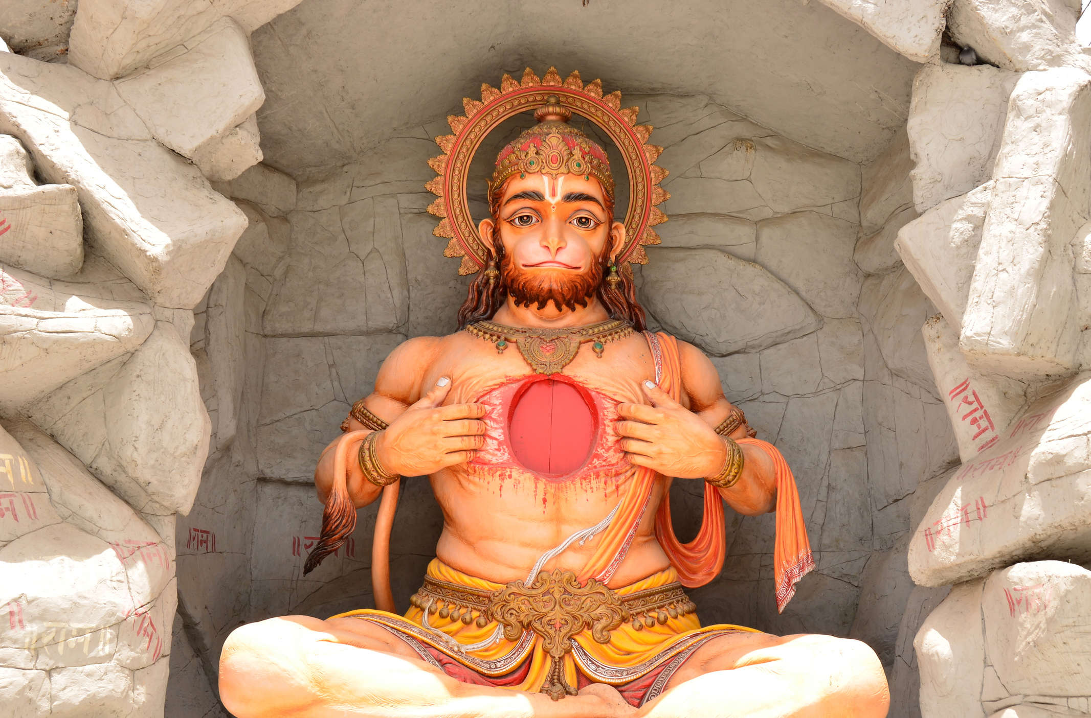 Do you know there's a temple where Hanuman is worshipped as a female?