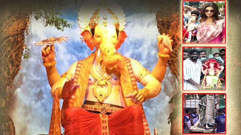 Ganesh Chaturthi 2018: From Shilpa Shetty to JP Dutta, Bollywood celebs  bring Lord Ganesha home