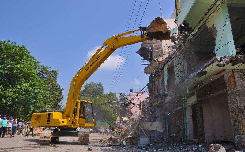 Anti-encroachment drive: Over 150 shops razed in Prem Nagar