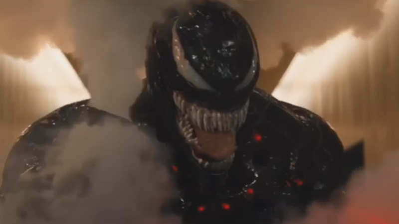This movie clip from 'Venom' will blow you away